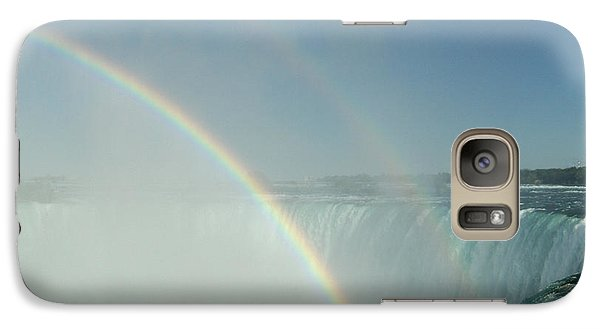 Galaxy Case featuring the photograph Double Rainbow by Brenda Brown