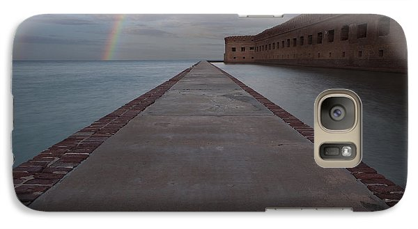 Galaxy Case featuring the photograph Double Rainbow Over Fort Jefferson by Keith Kapple