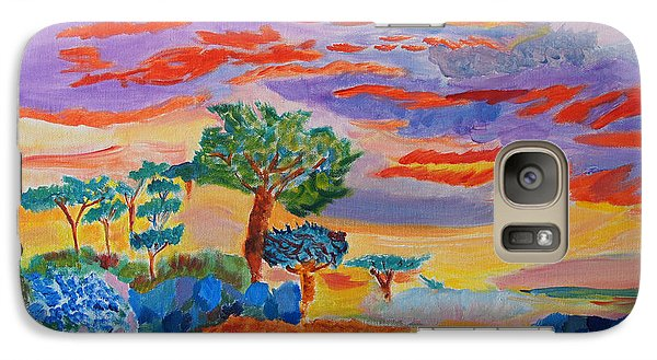 Galaxy Case featuring the painting Candy Coated Monterey Sunset by Meryl Goudey