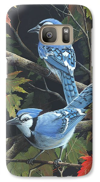 Galaxy Case featuring the painting Double Trouble by Mike Brown
