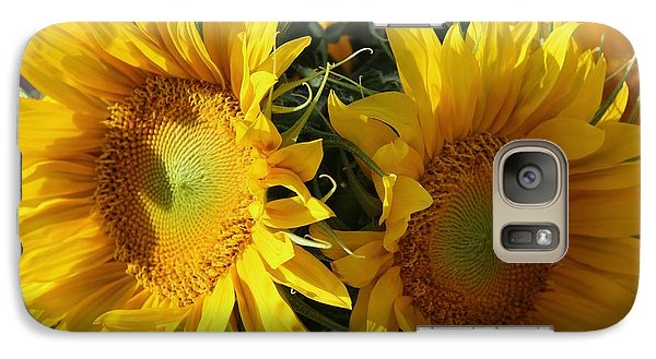 Galaxy Case featuring the photograph Double Yellow  by Yumi Johnson