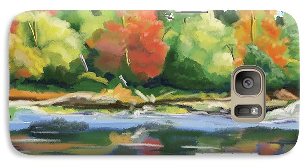 Galaxy Case featuring the painting Down By The River by Tim Gilliland