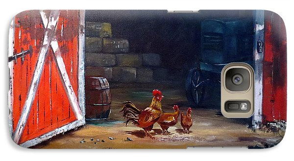 Galaxy Case featuring the painting Down On The Farm by Lee Piper