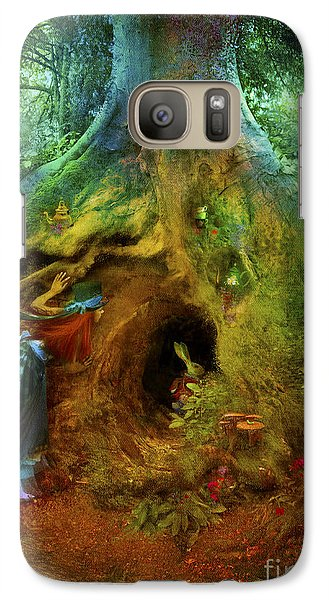 Down The Rabbit Hole Galaxy Case by Aimee Stewart