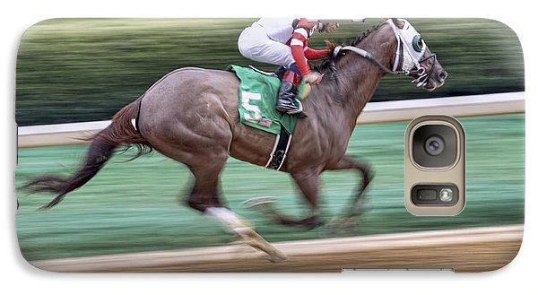 Down The Stretch - Horse Racing - Jockey Galaxy S7 Case