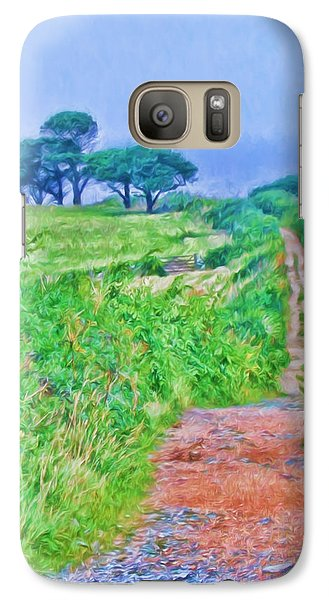 Down To The Sea Herm Island Galaxy S7 Case