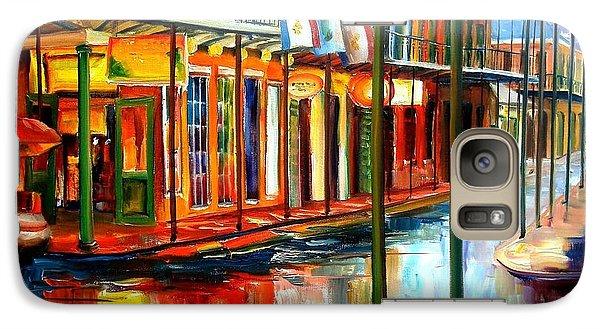 City Scenes Galaxy S7 Case - Downpour On Bourbon Street by Diane Millsap