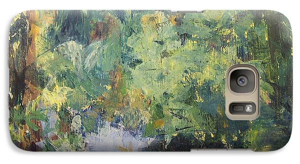 Galaxy Case featuring the painting Downstream by Mary Lynne Powers