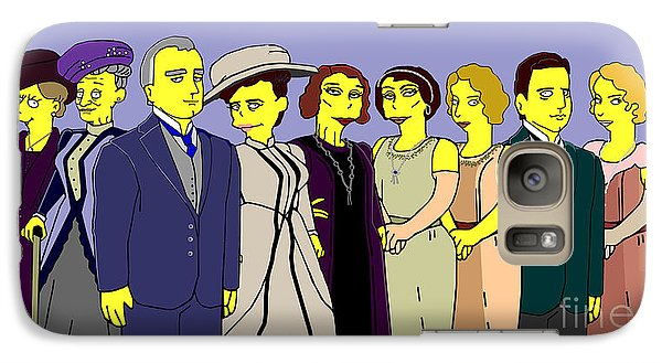 Galaxy Case featuring the digital art Downton Abbey - Cast Nine by Donna Huntriss