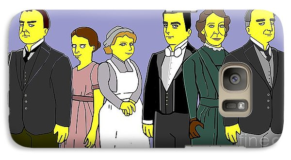 Galaxy Case featuring the digital art Downton Abbey - Downstairs 6 by Donna Huntriss