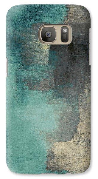 Downtown Blue Rain I Galaxy S7 Case by Lanie Loreth