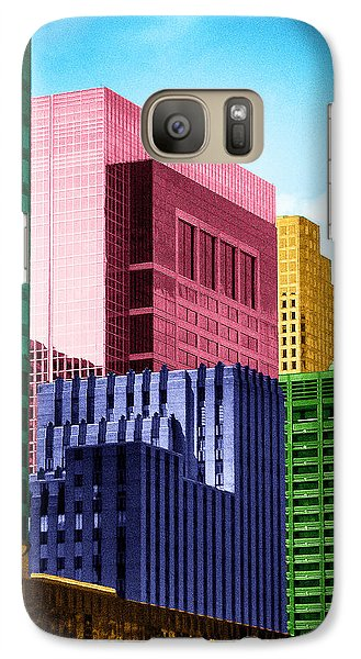 Galaxy Case featuring the photograph Downtown Building Blocks by Bartz Johnson