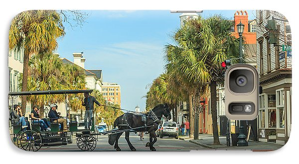 Galaxy Case featuring the photograph Downtown Charleston Stroll by Patricia Schaefer