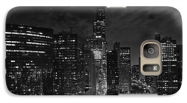 Downtown Chicago At Night Galaxy S7 Case by Ricky L Jones