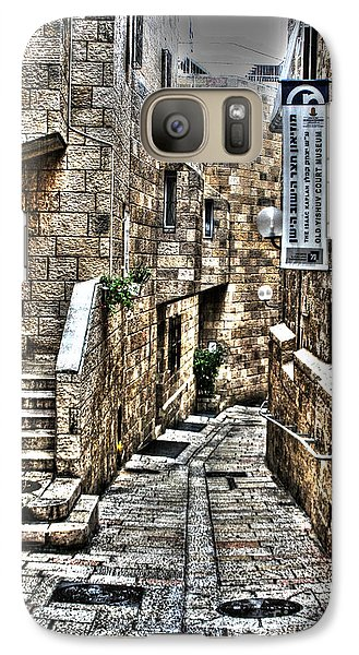 Galaxy Case featuring the photograph Downtown In Jerusalems Old City by Doc Braham