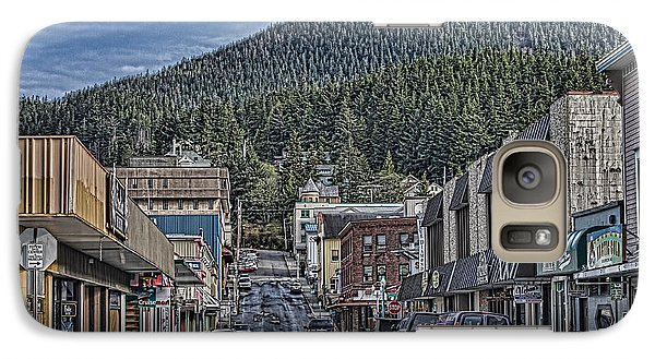 Galaxy Case featuring the photograph Downtown Ketchikan Alaska by Timothy Latta