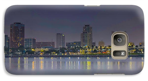 Galaxy Case featuring the photograph Downtown Long Beach by Joseph Hollingsworth