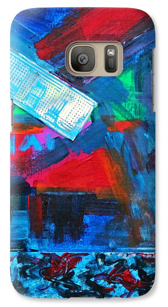 Galaxy Case featuring the painting Downtown Night Lights by Walter Fahmy