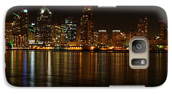 Downtown San Diego At Night From Harbor Drive Galaxy S7 Case by Nathan Rupert