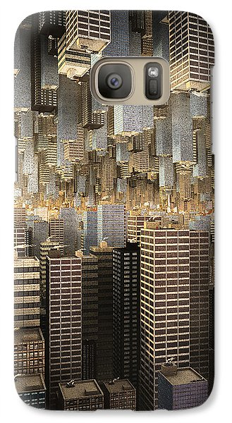 Galaxy Case featuring the digital art Downtown/uptown by Matt Lindley