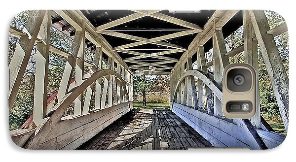 Galaxy Case featuring the photograph Dr. Knisely Covered Bridge by Suzanne Stout