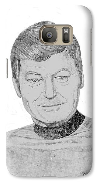 Galaxy Case featuring the drawing Dr. Leonard Mccoy by Thomas J Herring