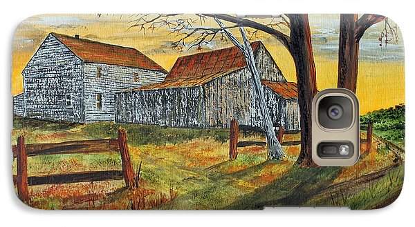 Galaxy Case featuring the painting Drafty Old House by Jack G  Brauer