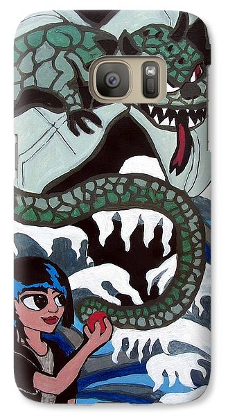 Galaxy Case featuring the painting Dragon Fruit by Artists With Autism Inc