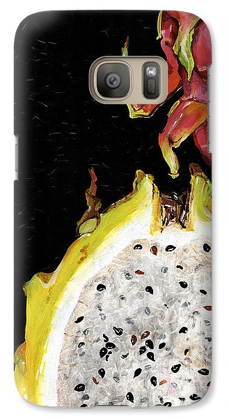 Galaxy Case featuring the painting dragon fruit yellow and red Elena Yakubovich by Elena Yakubovich