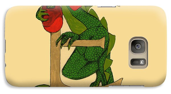 Galaxy Case featuring the mixed media Dragon Letter E by Donna Huntriss