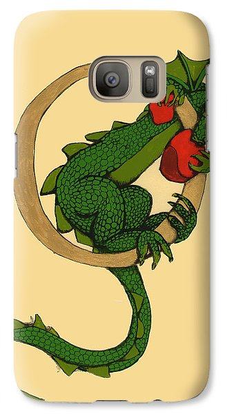 Galaxy Case featuring the mixed media Dragon Letter O by Donna Huntriss