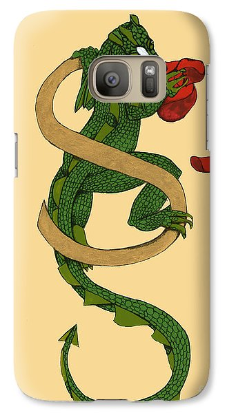 Galaxy Case featuring the mixed media Dragon Letter S by Donna Huntriss