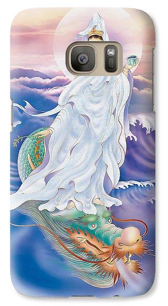 Galaxy Case featuring the photograph Dragon-riding Avalokitesvara  by Lanjee Chee