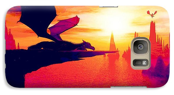 Galaxy Case featuring the painting Awesome Dragon by David Mckinney