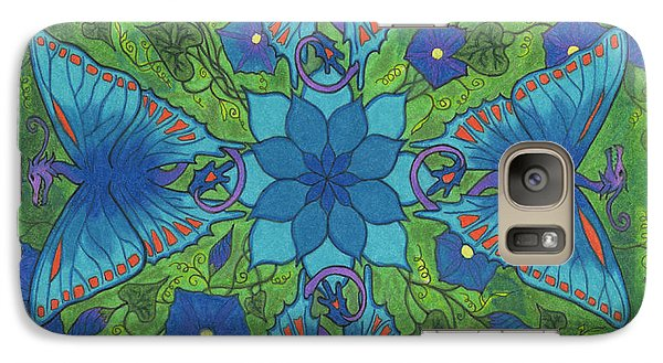 Galaxy Case featuring the drawing Dragonala Summer by Mary J Winters-Meyer