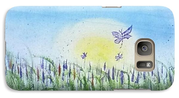 Galaxy Case featuring the painting Dragonflies In The Tullies by Carol Duarte
