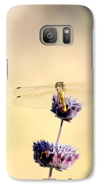 Galaxy Case featuring the photograph Dragonfly by AJ  Schibig