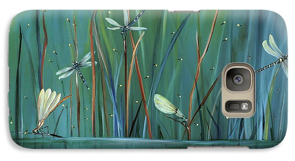 Impressionism Galaxy S7 Case - Dragonfly Diner by Carol Sweetwood
