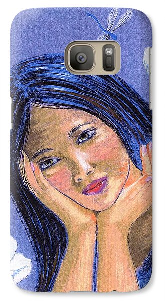 Galaxy Case featuring the painting Dragonfly Dreamer by Jane Small