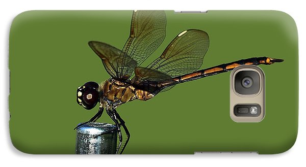 Galaxy Case featuring the photograph Dragonfly by Meg Rousher
