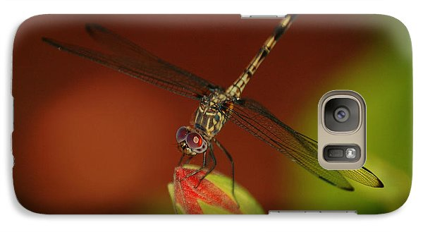 Galaxy Case featuring the photograph Dragonfly On Hibiscus by Leticia Latocki