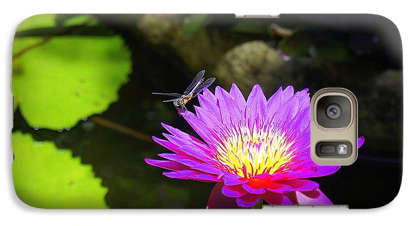 Galaxy Case featuring the photograph Dragonfly Resting by Laurie Perry