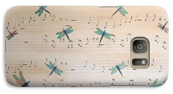 Galaxy Case featuring the painting Dragonfly Symphony by Cindy Micklos