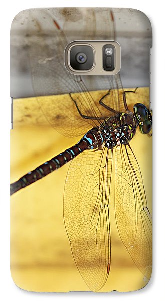 Galaxy Case featuring the photograph Dragonfly Web by Melanie Lankford Photography