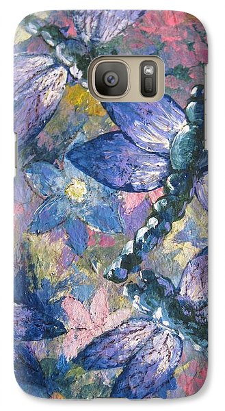 Galaxy Case featuring the painting Dragons  by Megan Walsh