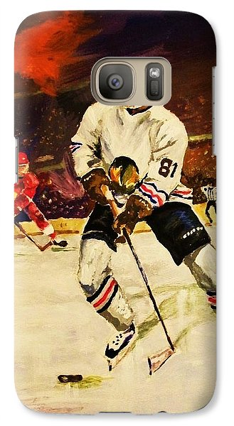 Galaxy Case featuring the painting Drama On Ice by Al Brown