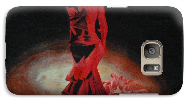 Galaxy Case featuring the painting Dramatic In Scarlet by Cherise Foster