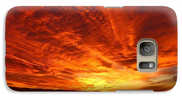 Galaxy Case featuring the photograph Dramatic Red Sky by Lynn Hopwood