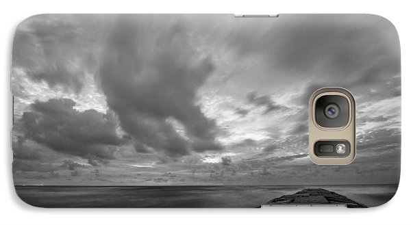 Dramatic Skies Over Galveston Jetty Galaxy S7 Case