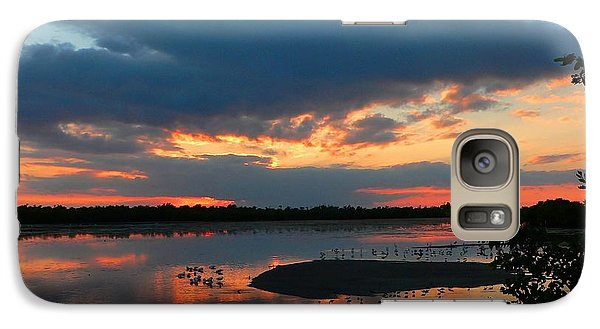 Galaxy Case featuring the photograph Dramatic Sunset by Rosalie Scanlon